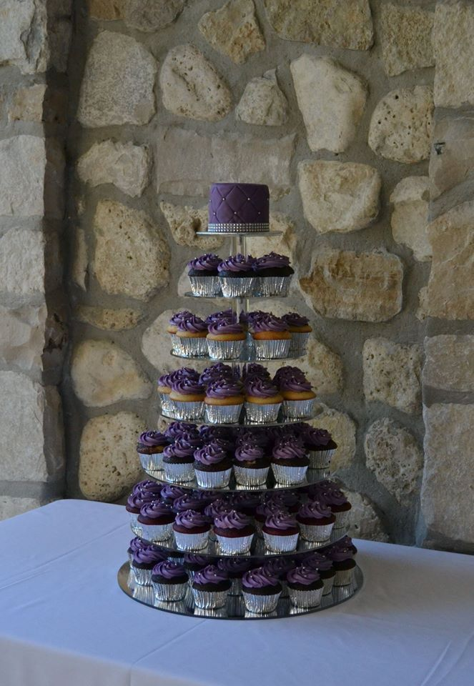 Cupcake tower for a Fall wedding