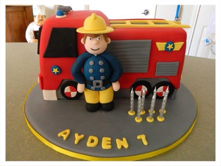 how to make a fireman sam cake