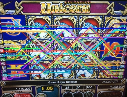 Amazing 54.140€ BIGWIN on IGT's Unicorn slot with 25€ Total bet per spin!