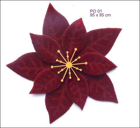 Some fabulous Velvet Poinsettia flower Laser Cuts for you!