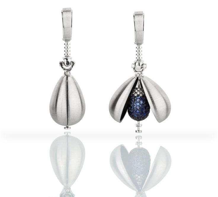 """Bluewater Drops earrings with diamonds and sapphires  Серьги """"Капли"""" с синими сапфирами и бриллиантами #markin #vladimirmarkin #markinjewellery"""