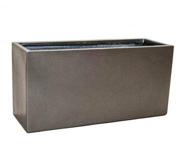 Pflanztrog Pflanzkübel anthrazit metallic 80x30x40cm – Bild 1