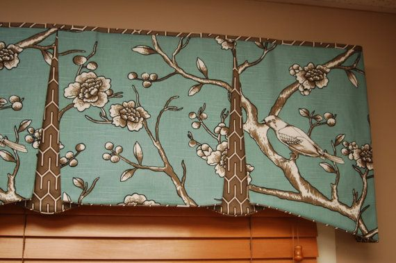 "Made to Order EMMA Hidden Rod Pocket Valance fits 56""- 80"" window, contemporary valance, your fabric, my LABOR and lining"