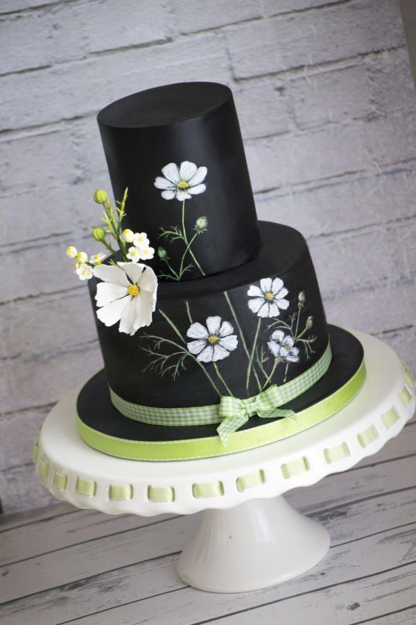 Cosmos flowers cake by Vanilla & Me