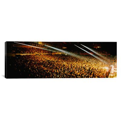 """East Urban Home Panoramic Rock Concert Interior Chicago II Photographic Print on Canvas Size: 30"""" H x 90"""" W x 1.5"""" D"""