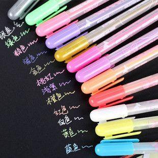 Aliexpress.com: Comprar 11 unidades coloridos plumas de Gel hechos a mano herramientas de utilería niños de los niños DIY del álbum de foto accesorios para la foto álbum de lápiz de manicura fiable proveedores en Hanna's Photo Album Store