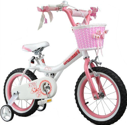 Royalbaby Jenny Princess Pink Girls Bike with Training Wheels and Basket, Best Gifts for Girls. 12 Inch, 14 Inch, 16 Inch Avaliable (Pink, 14 Inch) - http://www.bicyclestoredirect.com/royalbaby-jenny-princess-pink-girls-bike-with-training-wheels-and-basket-best-gifts-for-girls-12-inch-14-inch-16-inch-avaliable-pink-14-inch/
