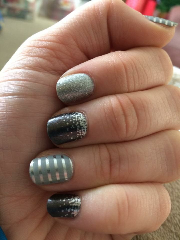 Jamberry Combo Midnight Celebration, Grey and Silver Pinstripe and Diamond Dust Sparkle available at onestopjamshop.jamberry.com