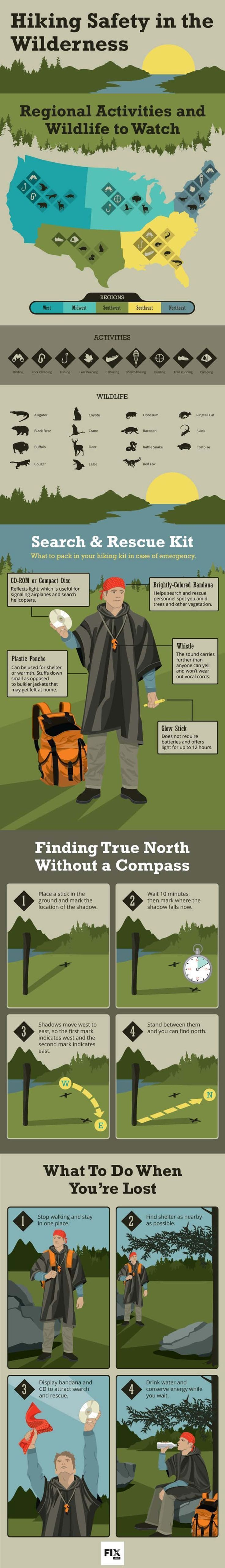 Hiking Safety Tips | How to Stay Safe While Hiking in the Wilderness - Outdoor Survival Skills by Survival Life at http://survivallife.com/2016/01/15/25478/