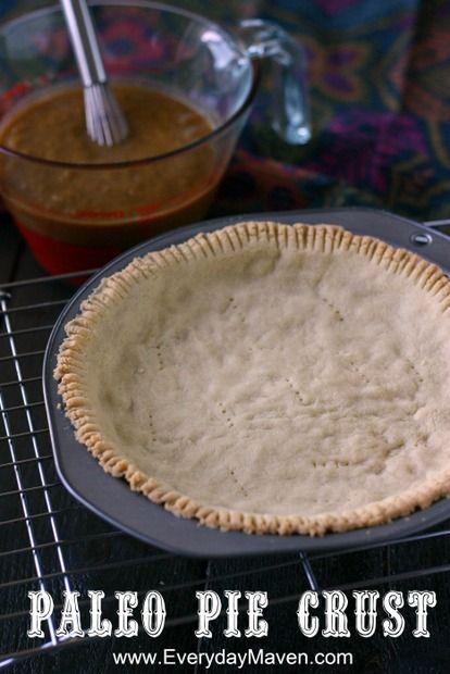 Paleo {Grain Free, Gluten Free and Dairy Free} Pie Crust. Perfectly flaky, light…