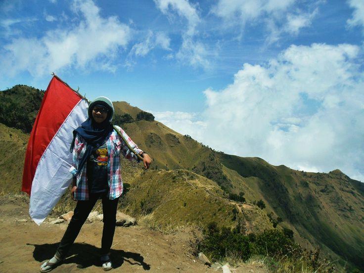Love you Indonesia. Mt. Merbabu 3142 mAsl, Jawa Tengah, Indonesia
