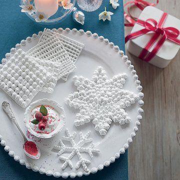 Des napperons en meringue / Doily meringue