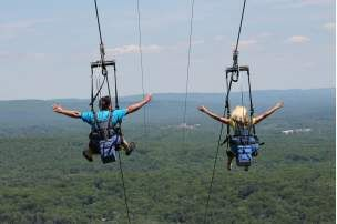 It doesn't matter if it's your first time or your hundredth, take an afternoon to zip line through the green forests of the Pocono Mountains.