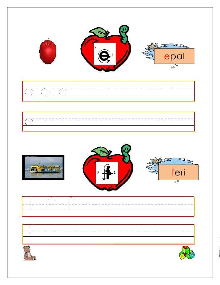 Latihan menulis huruf besar dan huruf kecil