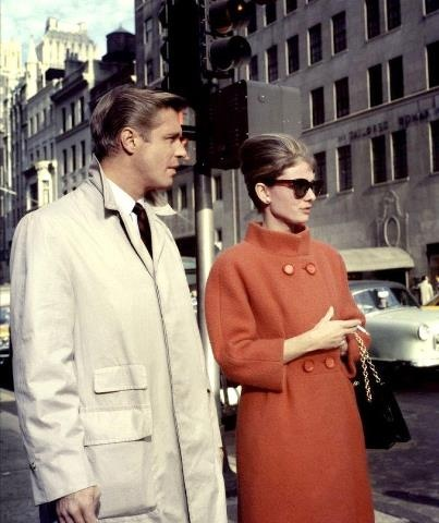 with george peppard in breakfast at tiffanys audrey