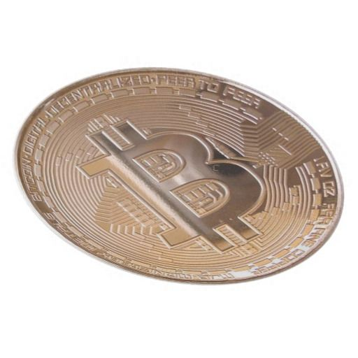 Dish with a picture of Bitcoin. It can be used for eating.