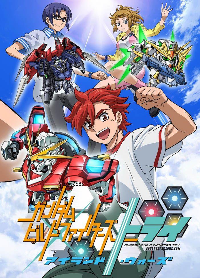 Gundam Build Fighters Try: Island Wars   480p 170MB   720p 300MB MKV  #GundamBuildFightersTryIslandWars  #Soulreaperzone  #Anime