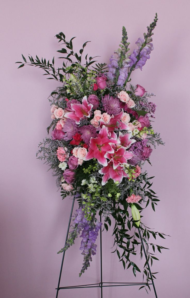 232 best casket sprays images on pinterest funeral flowers pink purple standing spray created at harbourview flowers in thunder bay on city flowersmemorial flowerssympathy dhlflorist Images