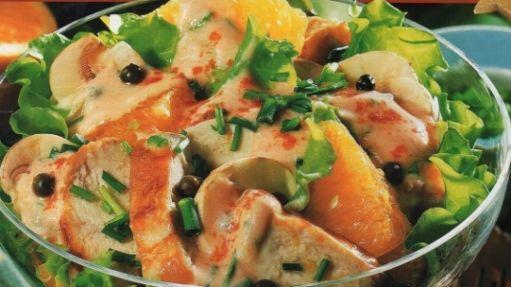 Kuřecí salát s pomerančem / Chicken salad with oranges