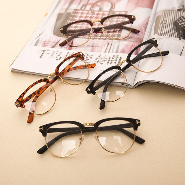 Nueva moda hombre mujer marco del espejo del llano gafas Nerd Geek Eyewear  marcos con lente 8da329c66a