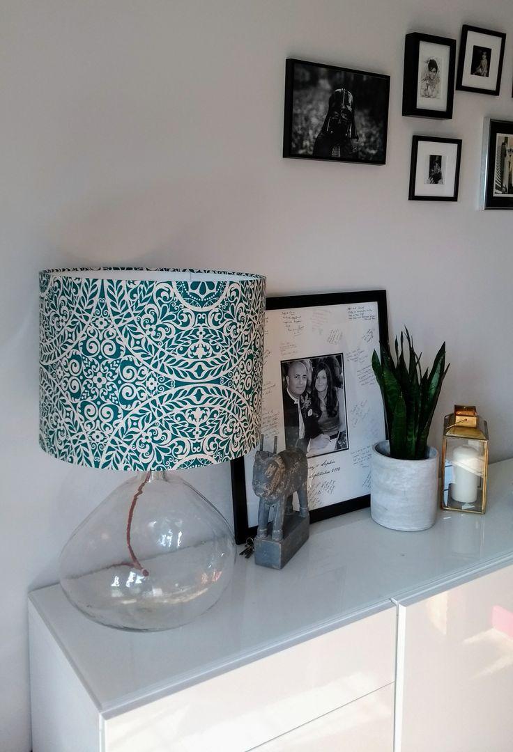 Tachenda+Teal+Linen+Lampshade, £24.00