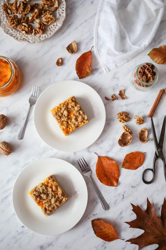 Ciasto serowo-dyniowe z owsianą kruszonką