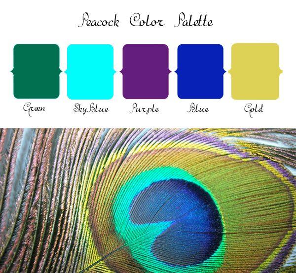 Peacock Wedding Color Palette
