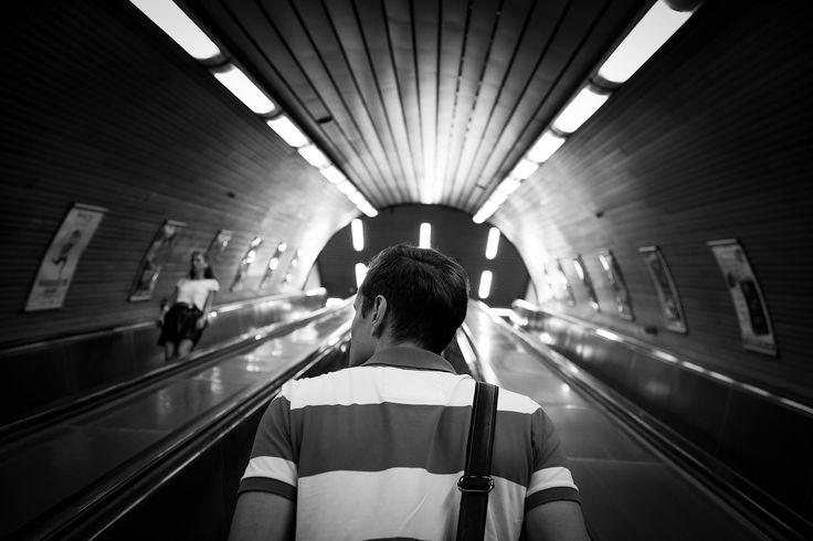 Beautiful girl on 11 | Prague metro | by Lukas Krasa
