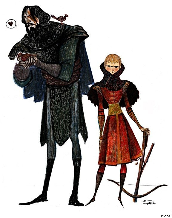 Sandor and Joffrey from Game of Thrones by Phobs