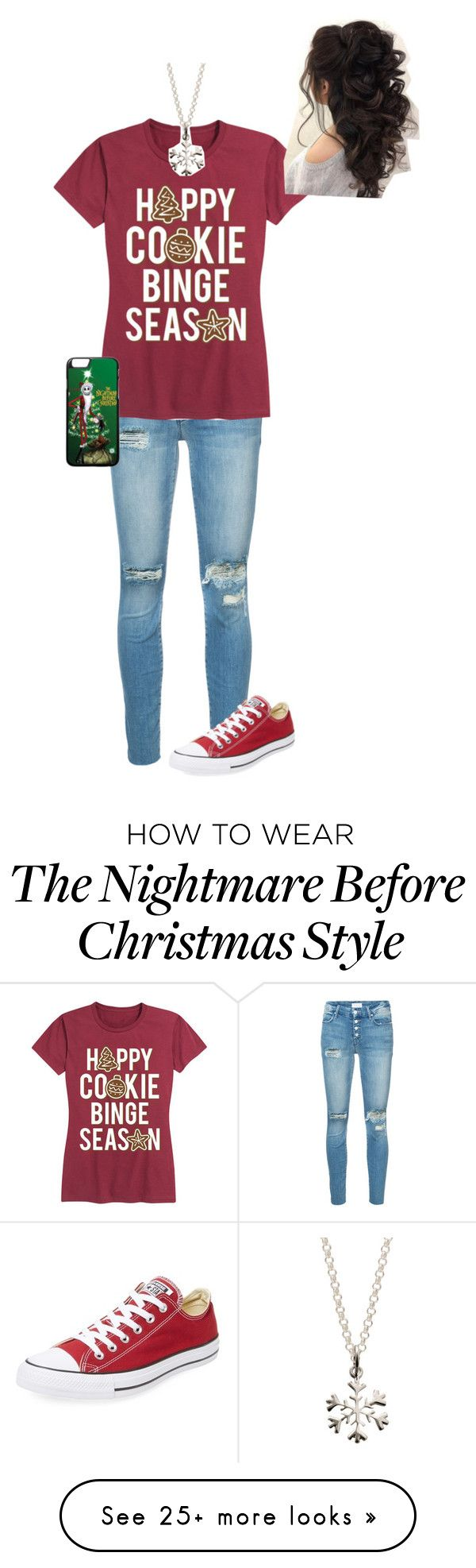 """""""Merry Christmas"""" by olivia244sage on Polyvore featuring Mother, Converse and Lily Charmed"""
