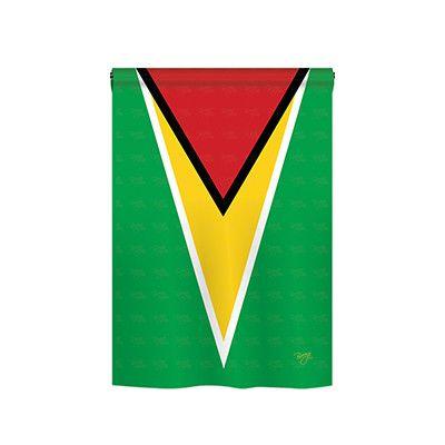 TwoGroupFlagCo Guyana 2-Sided Vertical Flag Size: