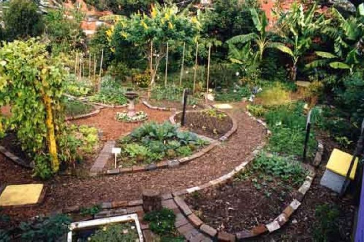 Beautiful Mandala garden design. One of the most efficient uses of garden space.