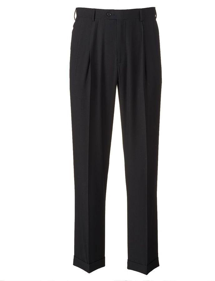 Big & Tall Croft & Barrow® Classic-Fit Black Twill Pleated Suit Pants
