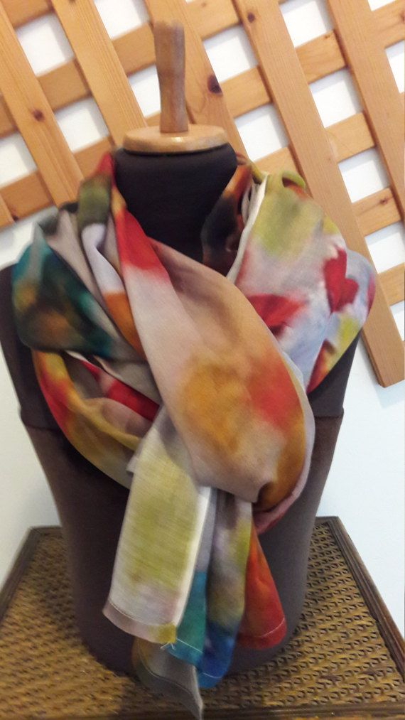 Flowers scarf gift for her women accessories modal 200_70