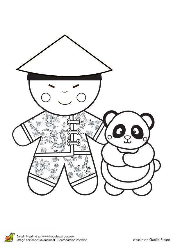 Poupee Du Monde Chinois, sur HugoLescargot.com