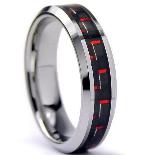 5MM Tungsten Carbide Ring W/ BLACK & RED Carbon Fiber Inlay Sizes 5 to 9 Bonndorf. $21.99. Comes with a FREE Ring Box!!. Comfort Fit. 30-Day Money Back Guarantee. Beware of Imitated Replicas. Genuine Tungsten Carbide (Cobalt Free)