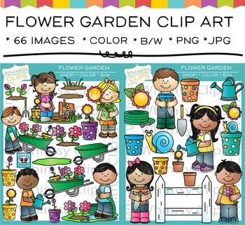 The+Flower+Garden+clip+art+set+features+kids+gardening+as+well+as+garden+pieces.+This+Flower+Garden+clipart+set+contains+66+image+files,+which+includes+34+color+images+and+32+black+&+white+images+in+png+and+jpg.+All+Flower+Garden+clipart+images+are+300dpi+for+better+scaling+and+printing.The+Flower+Garden+set+includes:*+Boy+gardener*+Boy+holding+a+flower*+Boy+watering+flowers*+Boy+with+a+watering+can*+Boy+pushing+a+wheelbarrow*+Dirt*+Dirt-filled+flowerpot*+Fence*+Pink+flower+bud+in+a+flow...