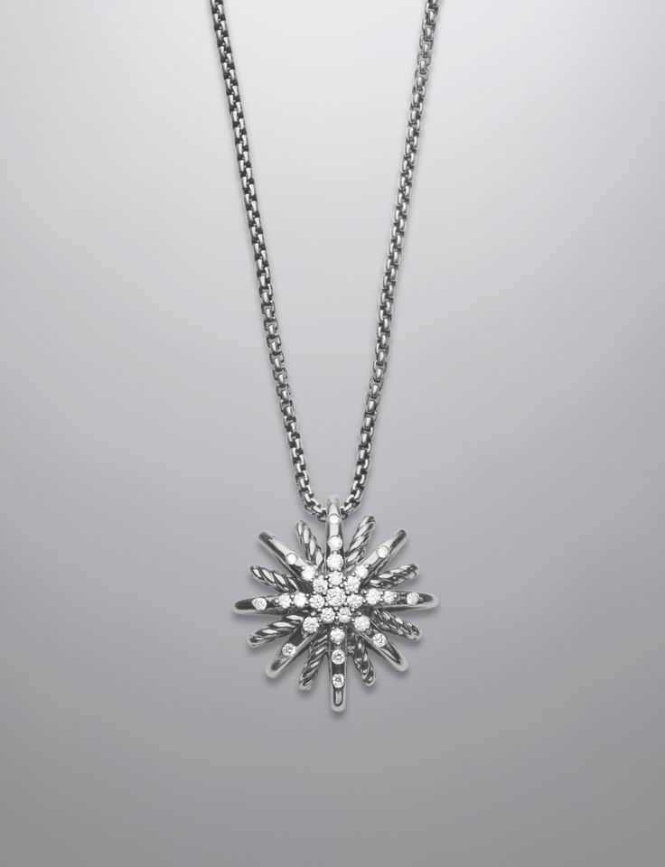 Starburst Necklace, Diamonds, 16mm