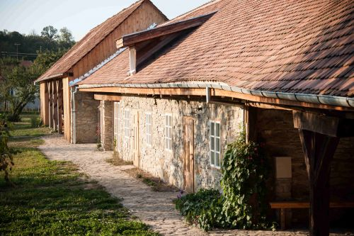 The former stables now host our guestrooms #formerstables #restoredhouse #barn #traditional #heritage #visittransylvania #wheretostayintransylvania @Cincsor.Transylvania.Guesthouses