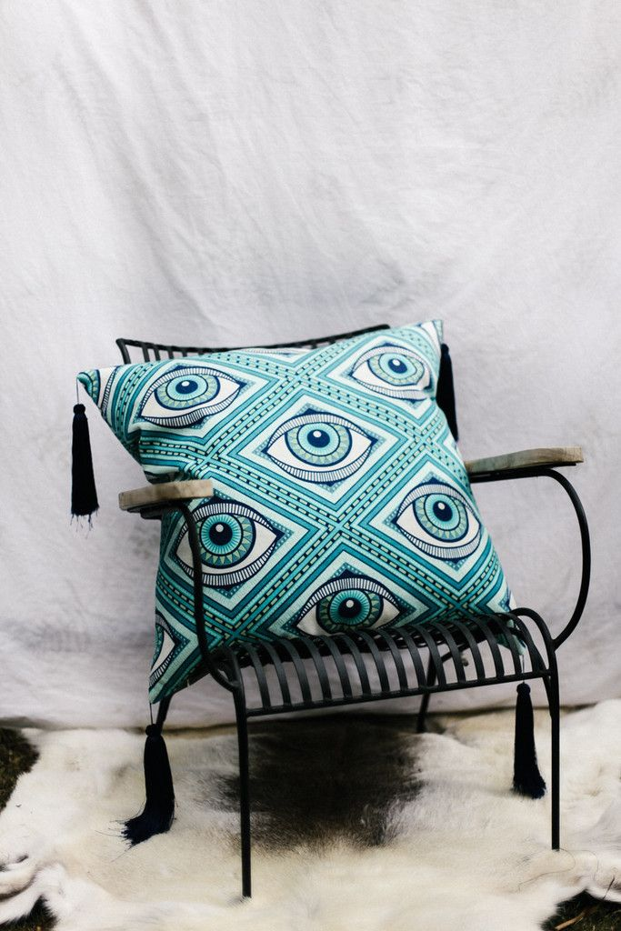 PRE-ORDER 'Eye See You' Cleo Cushion – Bohome Homewares Australia