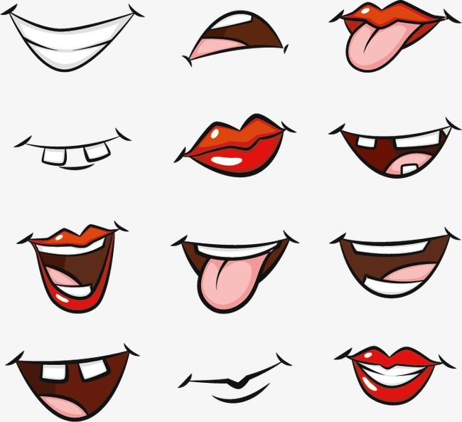 Cartoon Mouth Pictures Cartoon Hand Painted Cartoon Mouth Png