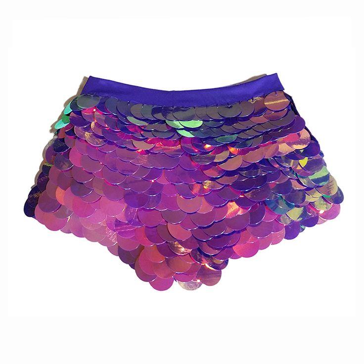 purple haze sequin shorts festival rave