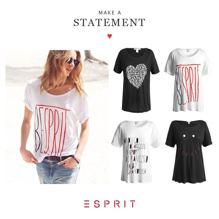Are you in love with our #Esprit fashion? Make a statement with the new Esprit print tees.