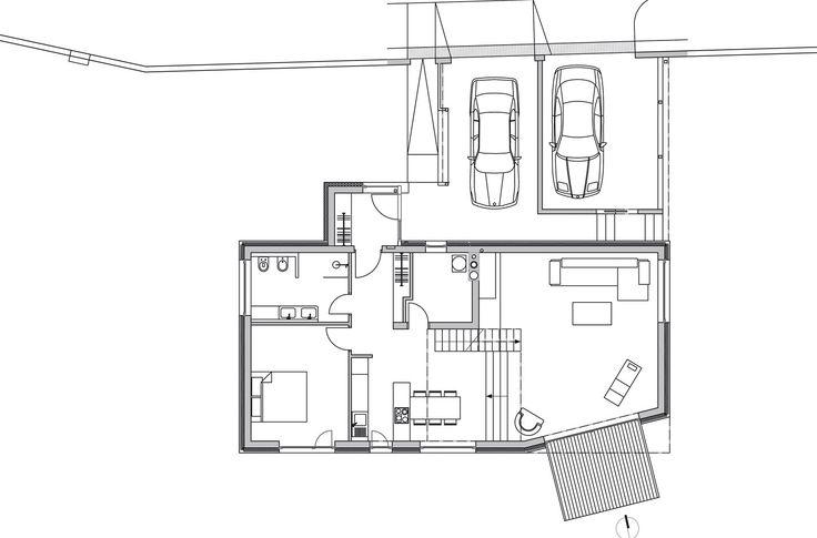 Rodinný dům Lety: půdorys 1. nadzemního podlaží