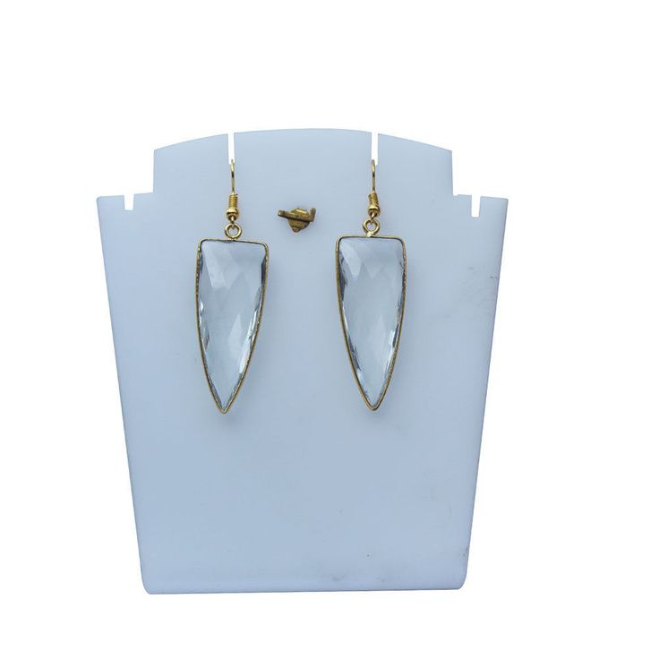 Natural crystal 18 k Gold Plated Earring Jewellery #Unbranded #DropDangle