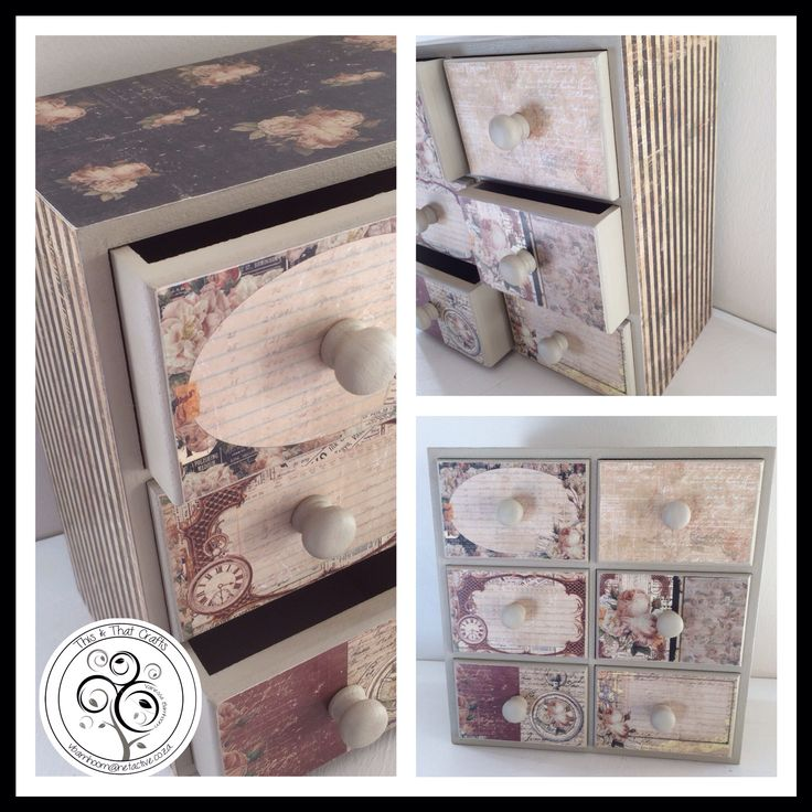 Drawer Unit - Vintage Rose Range (30x15x30cm)