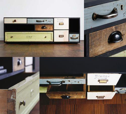 가지고 싶다. 아니 만들어도 될듯.  Schubladen_repurposed_furniture_drawers