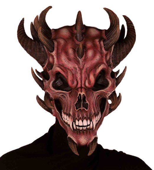 forum novelties mens devil skull latex mask red one size cool masksscary maskhalloween - Cool Masks For Halloween