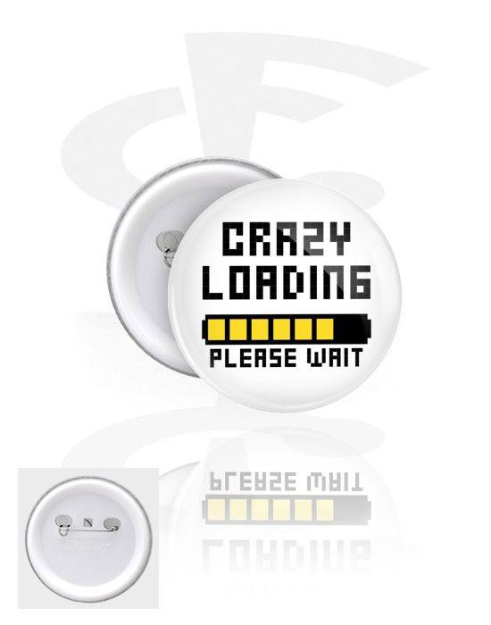 Ansteck-Button (Weißblech / Kunststoff) | Crazy Factory Piercing Online Shop