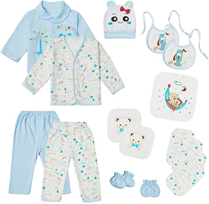 Amazon.com: 0-3 Months Baby Clothes Set Newborn Boy Girl ...